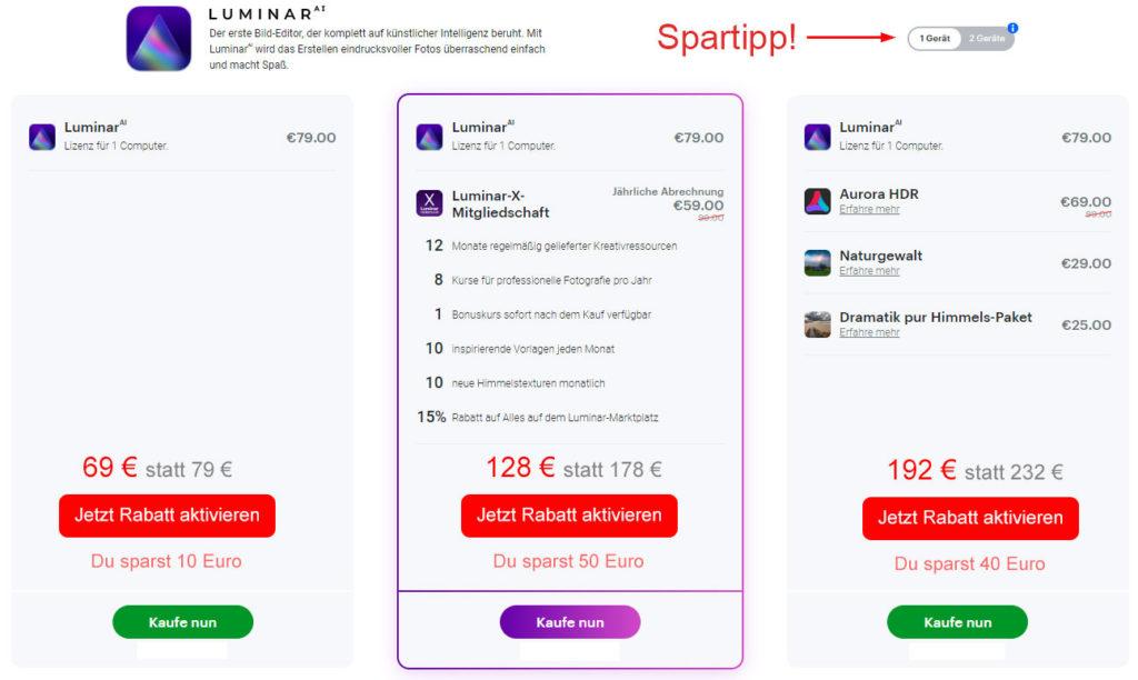 Luminar AI Rabatt
